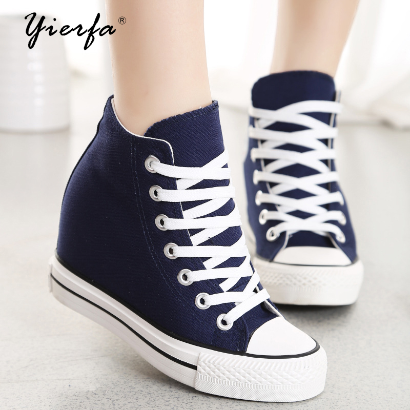 8 cm heel height women shoes canvas shoes basic models of casual shoes