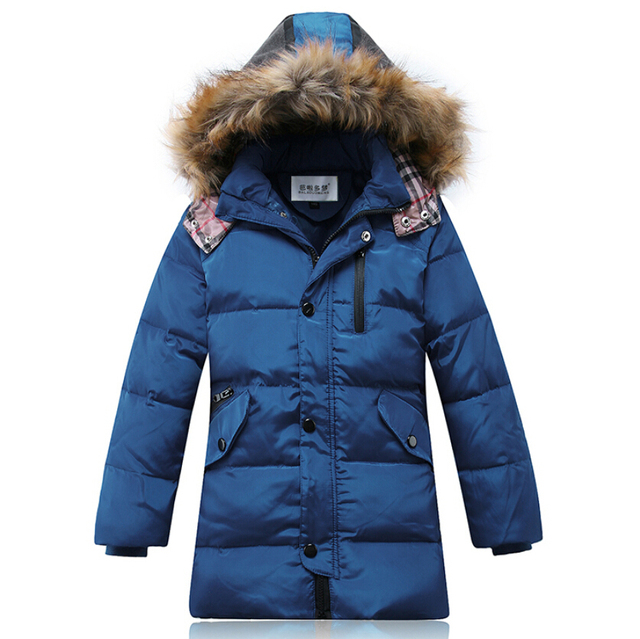 Children Down Coats Kids Parkas Boys Winter Clothes Sets Thickening Outer Jacket+Liner Down Jacket Warmly Kids Jackets and Coats