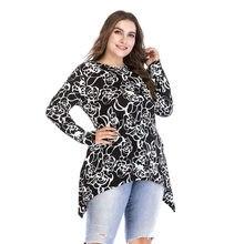 a01c1bfbf0954a Islamic Clothes Irregular O Neck Flowers Print Muslim Women Manset Plus Size  M-6XL Dubai Blouses Elastic Tops Middle East Shirts