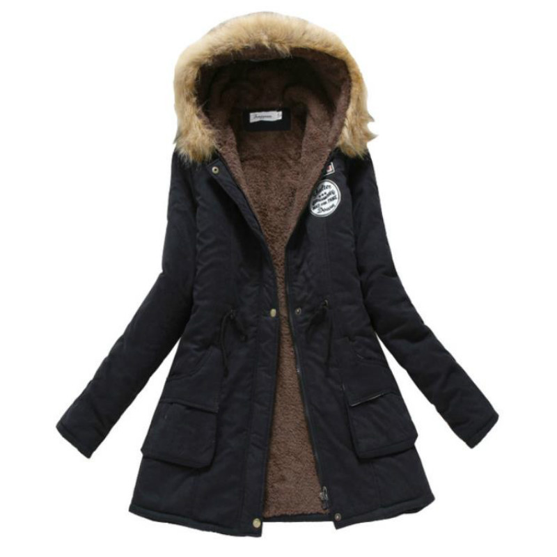 Winter Coat Women 2018 New   Parka   Casual Outwear Military Hooded Thickening Cotton Coat Winter Jacket Women Fur Clothes S-XXXL