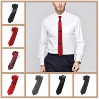 Jemygins אופנה חדשה mens פסי קשרים משי עניבה לגברים 6 ס