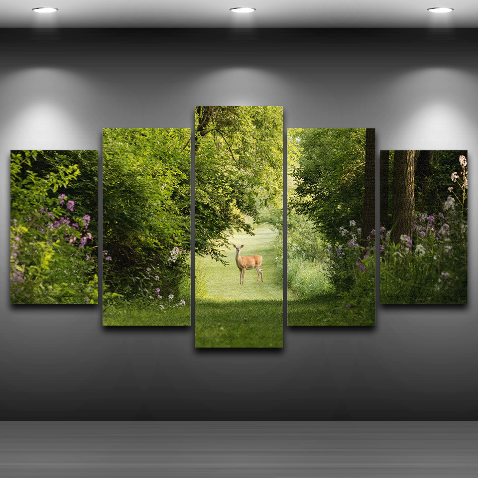 Canvas Wall Art Pictures Living Room Poster Frame 5 Pieces ...
