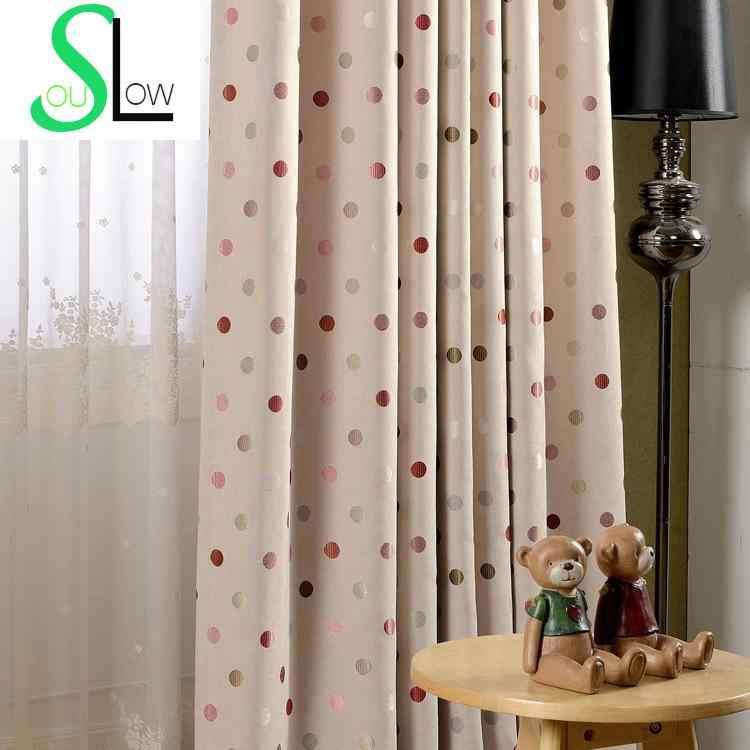 Круглые прецизионные жаккардовые шторы окна пасторальные шторы Cortinas гостиная шторы Детские геометрические
