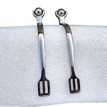 Роликовые шариковые Шпоры лошадь гладкие 30 мм шеи из нержавеющей стали для верховой езды мягкие нежные шпоры