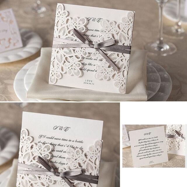 Hot 10pcs white flower wedding invitation cards kit envelopes seals hot 10pcs white flower wedding invitation cards kit envelopes seals personalized printing w18 drop ship stopboris Gallery