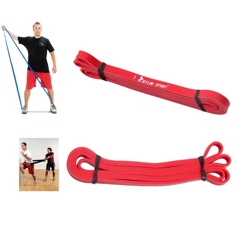 Latex ellenállás zenekar test edzőterme erőforrás-erőmű emelő piros, nagykereskedelmi és ingyenes szállítás esetén