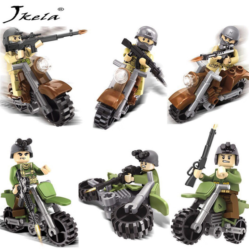 [Jkela] Military Swat Weapons Pack Army soldiers building blocks Arms City Police Legoingly Military Series For Kids Compatible military city police swat team army soldiers with weapons ww2 building blocks toys for children gift