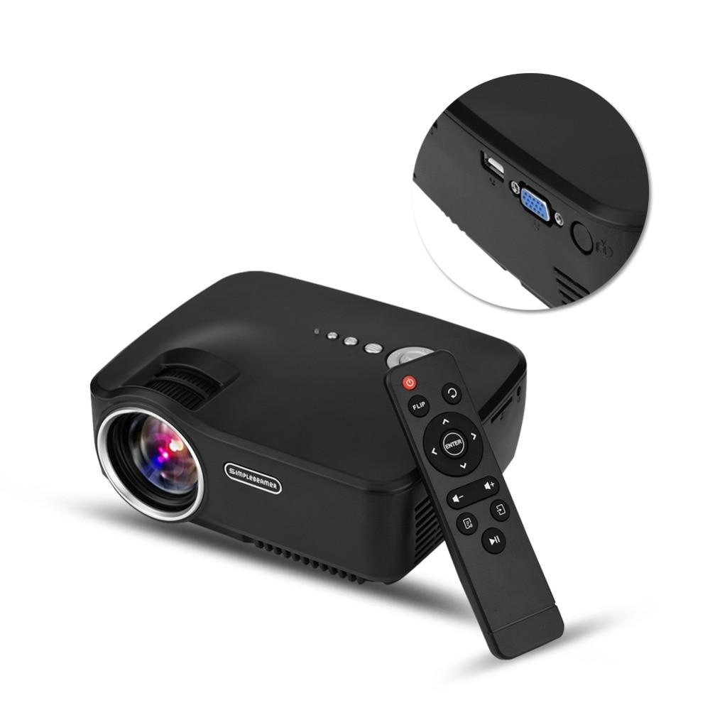 VBESTLIFE Portable Mini <font><b>LED</b></font> <font><b>Projector</b></font> 1080P <font><b>Full</b></font> <font><b>HD</b></font> HDMI Movie Multimedia Player Private Home Theater US Plug