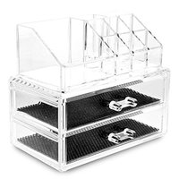 PHFU Clear Acrylic Lipstick Display Stand Holder Cosmetic Storage