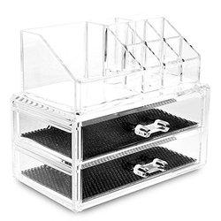 PHFU Clear Acrylic Lipstick Display Stand Holder Cosmetic Storage