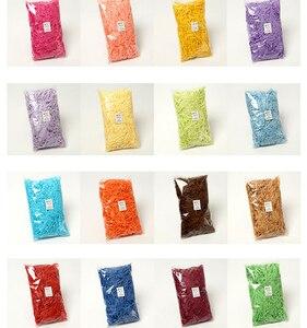 Image 3 - 100g צבעוני מגורר להתקמט נייר אריזת מתנה מילוי קרפט המפלגה קרפט נייר קישוט מעשי סוכריות קופסות DIY אריזה