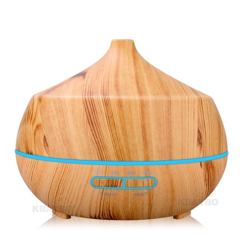 Diffuseur d'huile essentielle d'arome d'humidificateur d'air ultrasonique de 400 ml avec 4 réglages de minuterie lampe de 7 LED à couleur changeante