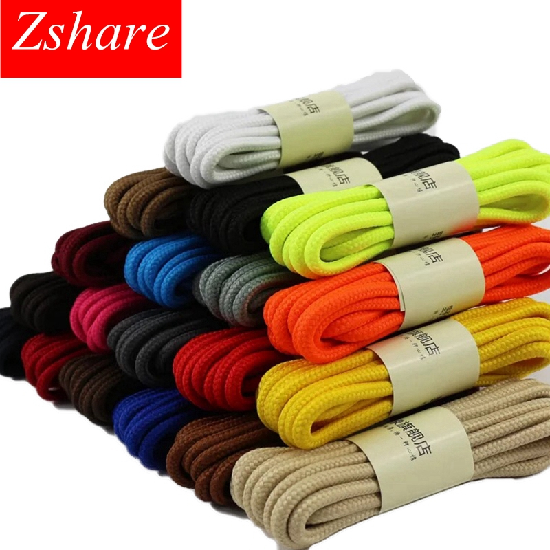 1 Pair Classic Round Shoe Laces Outdoor Sneakers Shoes Laces Solid Color Kids Adult Shoelaces 90/120/150CM YD-1