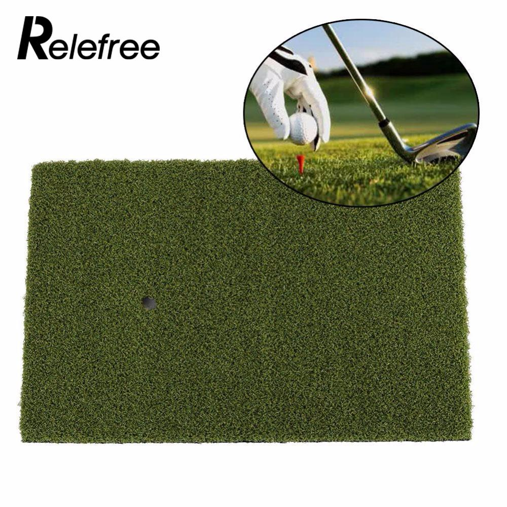 Relefree Backyard Golf Mat Training Hitting Golfing Mat Pad Rubber Tee Hoder Grass Mat Indoor Practice Grassroots 25x37cm