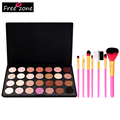Make Up Set 28 Color Shimmer Matte Colorful Makeup eye shadow Pallete Blush Eyeshadow Lip Brush Brow Brush Eyelash Comb FE#8