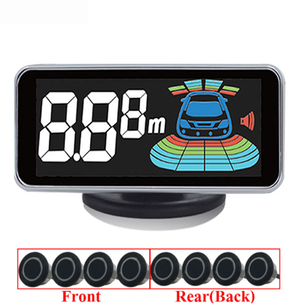 Parktronic 8 Sensors Car Parking Sensor Auto Reversing Radar Parking Car-Detector Parking Assistance Parking Radar Alarm koorinwoo car parking sensors 8 redars video system auto parking system bibi alarm sound alarm parking assistance parktronic