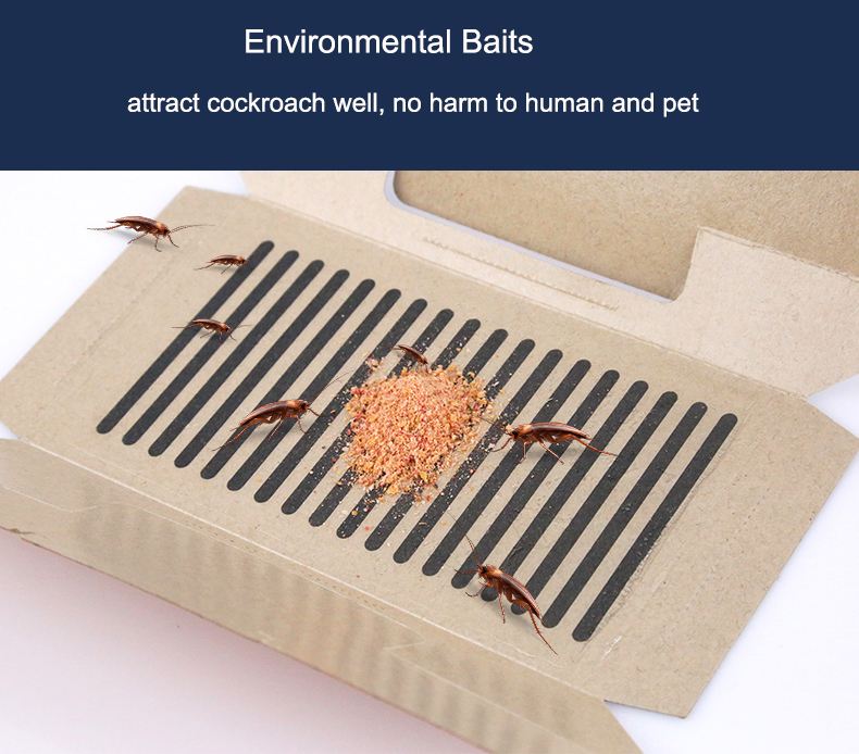 10Pcs lot Cockroach House Killing Bait Strong Sticky Catcher Traps Environmental Insect Pest Repeller Roach ECO Friendly in Traps from Home Garden
