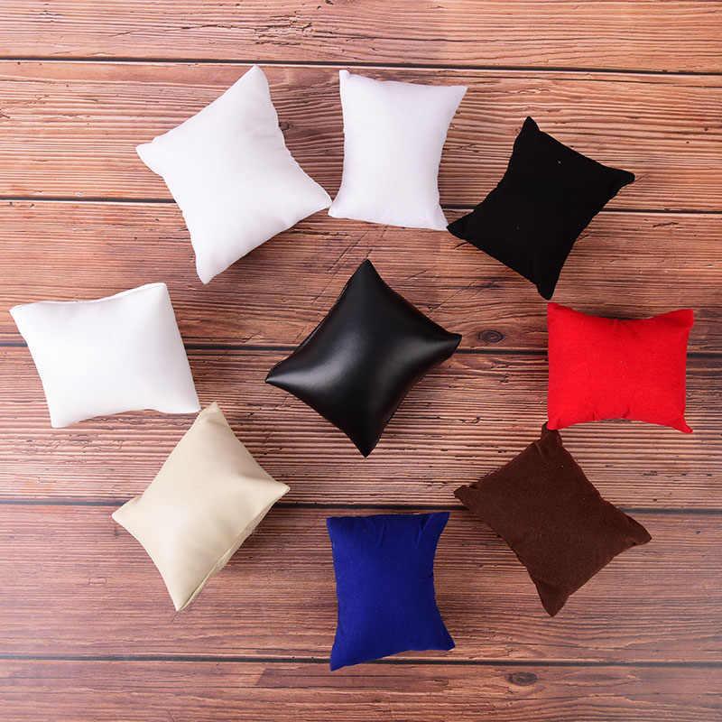 Модный PU или бархатный кожаный браслет подушка для часов Коробки для показа ювелирных изделий держатель органайзеры аксессуары для часов