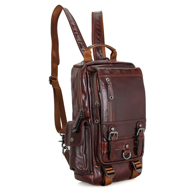 0b4cd29a02 Women Cowhide Genuine Leather Backpack Full Grain Oil Wax Leather Vintage  Daypack Large Capacity iPad Travel Tote Bag 2002