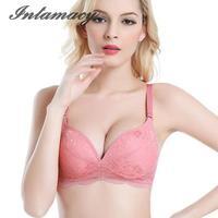 Deep V Sexy Bra Cup Breathable Silk Stoma Adjustable Underwear Gather No Rims Bra