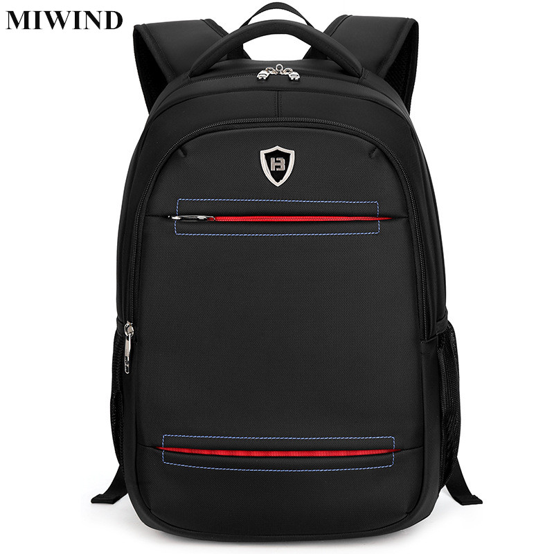 ФОТО MIWIND Mens Business Backpack Waterproof Oxford 15.6 inch Laptop Backpack Computer Bag Anti-theft Travel Back Pack School Bags