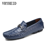 VRYHEID Big Size 38~50 High Quality Genuine Leather Men Shoes Soft Moccasins Loafers Fashion Brand Men Flats Comfy Driving Shoes