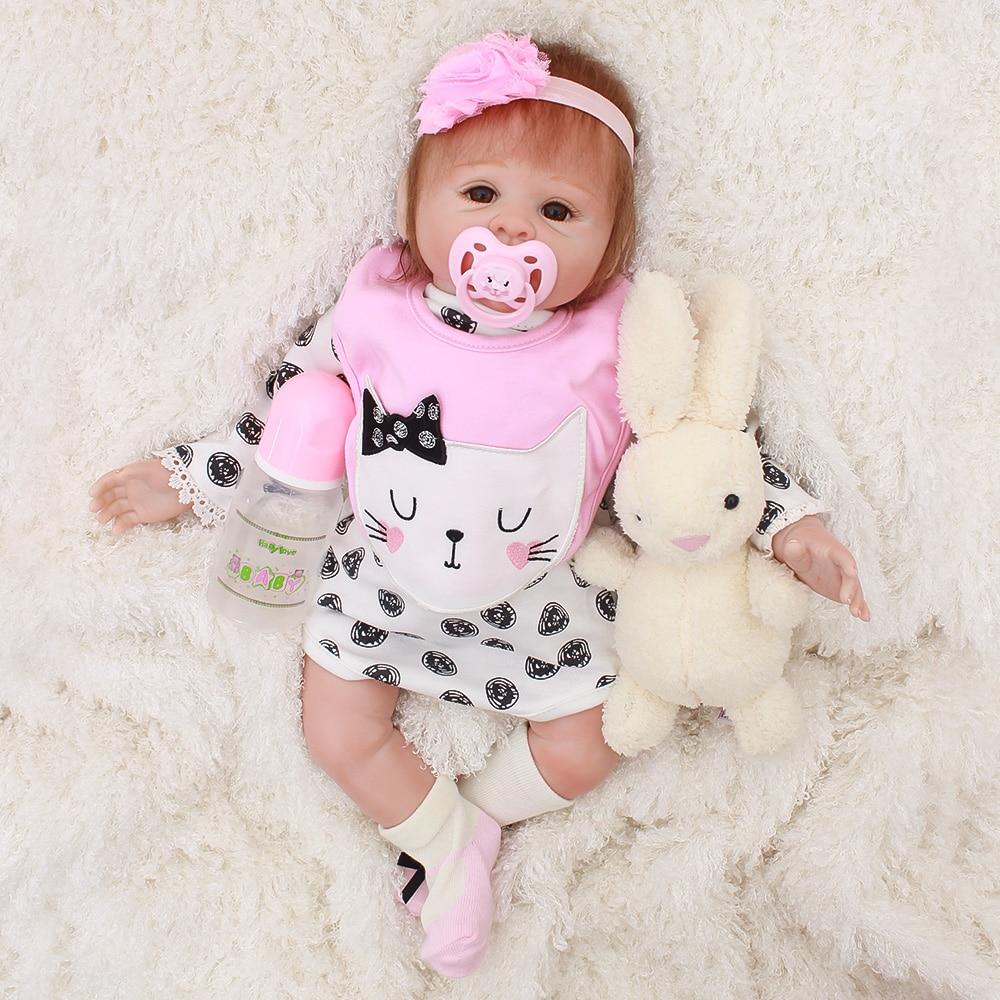 OtardDolls милый BeBe Reborn кукла из pp хлопка корпус 50 см Силиконовые реборн детские куклы реалистичные Новорожденные детские подарки Juguetes детские и...