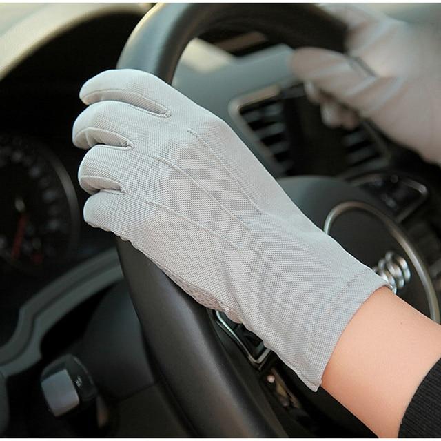 2020 Summer Sun Protection Gloves Male Thin Breathable Anti-Slip Driving Gloves Anti-UV Full Fingers Man Mittens SZ105W1 2