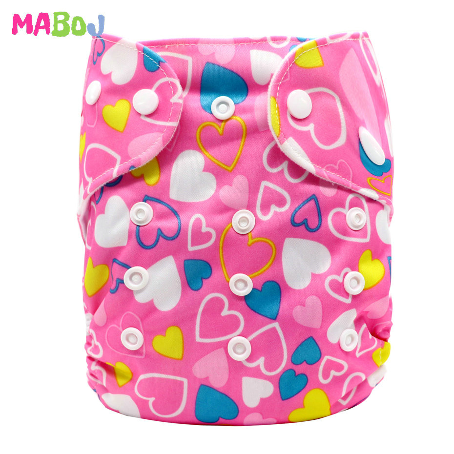 MABOJ Diaper Baby Pocket Diaper Washable Cloth Diapers Reusable Nappies Cover Newborn Waterproof Girl Boy Bebe Nappy Wholesale - Цвет: PD5-5-4
