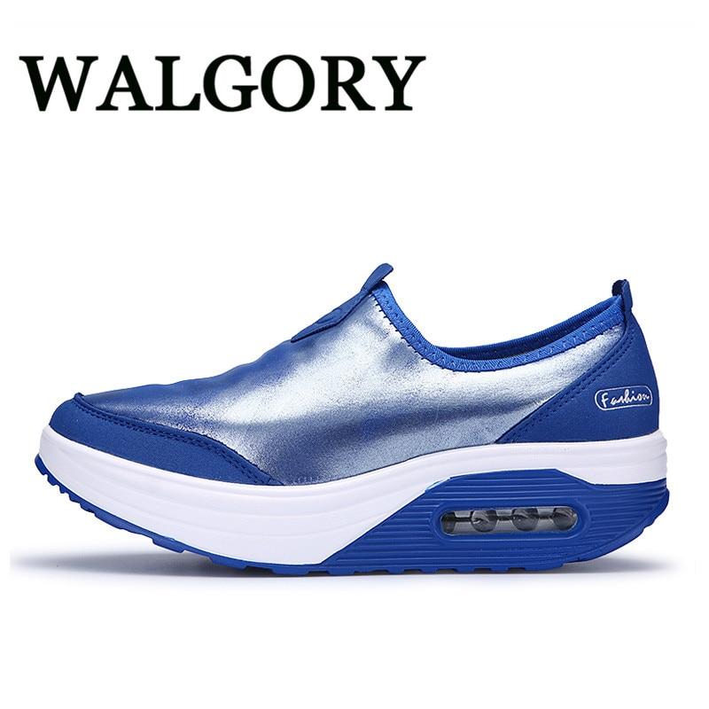 где купить  WALGORY Women'S Fashion Sewing Shoe Women Flat Platform Mother Nurse Shoes Spring Autumn Casual Woman Plus Size 41 Zapatos  по лучшей цене