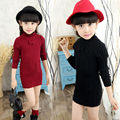 Baby Girl Boy Clothes High Neck Warm Sweater Children Toddler Kids  Turtleneck Winter Autumn Pullover Knit Loose Top New Year