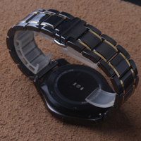 Ceramic Watchbands black with gold special For samsung gear S2 S3 band 20mm 22mm watch band watch strap galaxy watches 46mm 42mm