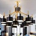 Hot nórdicos modernos led luces pendientes de comedor sala de estar decoración del hogar moderno led lámpara de techo ac85-265v free gratis