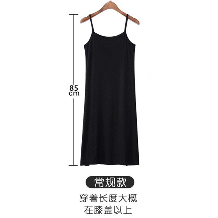Women Longuette Dress Cotton Summer Nightgowns & Sleepshirts Solid Comfortable Ventilation Sexy Camisole High New Girls Cotton
