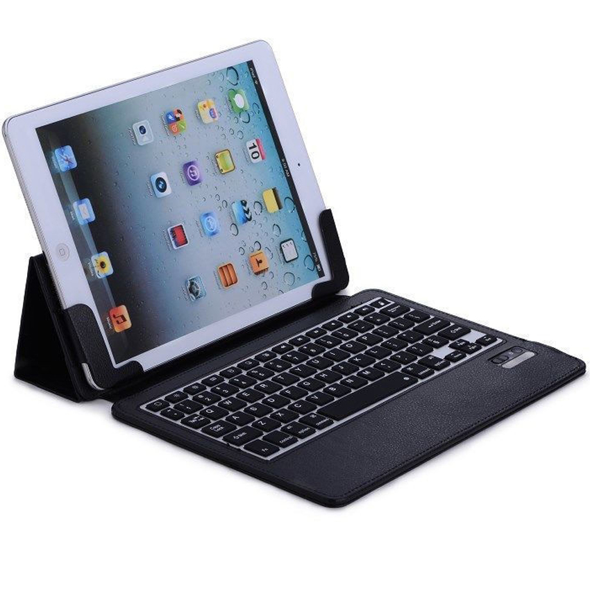 New 2017 Wireless Bluetooth Keyboard +PU Leather Cover Protective Case For iPad 5 / 6 / Air / Air 2 / Pro 9.7 Case