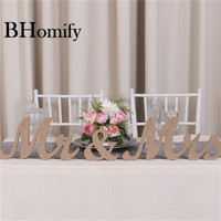 BHomify Wedding Table Centerpiece Decoration Golden Glitter Mr Mrs Wooden Letter Wedding Marriage Photo Booth Prop