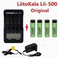 1 piezas LiitoKala lii 500 LCD 3,7 V 18650 21700 charger+ 4 piezas 3,7V 18650 3400mAh INR18650 34B li ion Battery