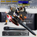 Professional Wireless Microphone System WR208 Dual Mic With Receiver Mike For KTV Singer DJ Computer Conference Karaoke Mikrofon