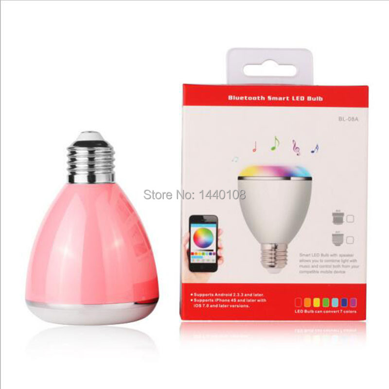 10pcs/lot New Arrival Wireless E27 Led Rgb Bluetooth Speaker Bulb Light Lamp Music Playing & Rgb Smart Lighting smuxi e27 led rgb wireless bluetooth speaker music smart light bulb 15w playing lamp remote control decor for ios android
