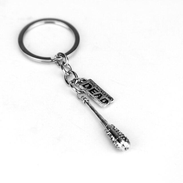 The Walking Dead Keychain Lucille Negan's Accessory Bat Metal Baseball Key Chains for Men Key Holder Rings Freeshipping