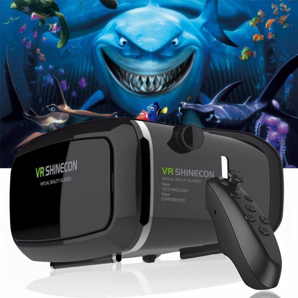VR Shinecon Virtual Reality 3D Glasses google cardboard 2.0 Pro Version VR Glasses VR BOX 2.0 Movie For 4.5-6.0' Smartphone
