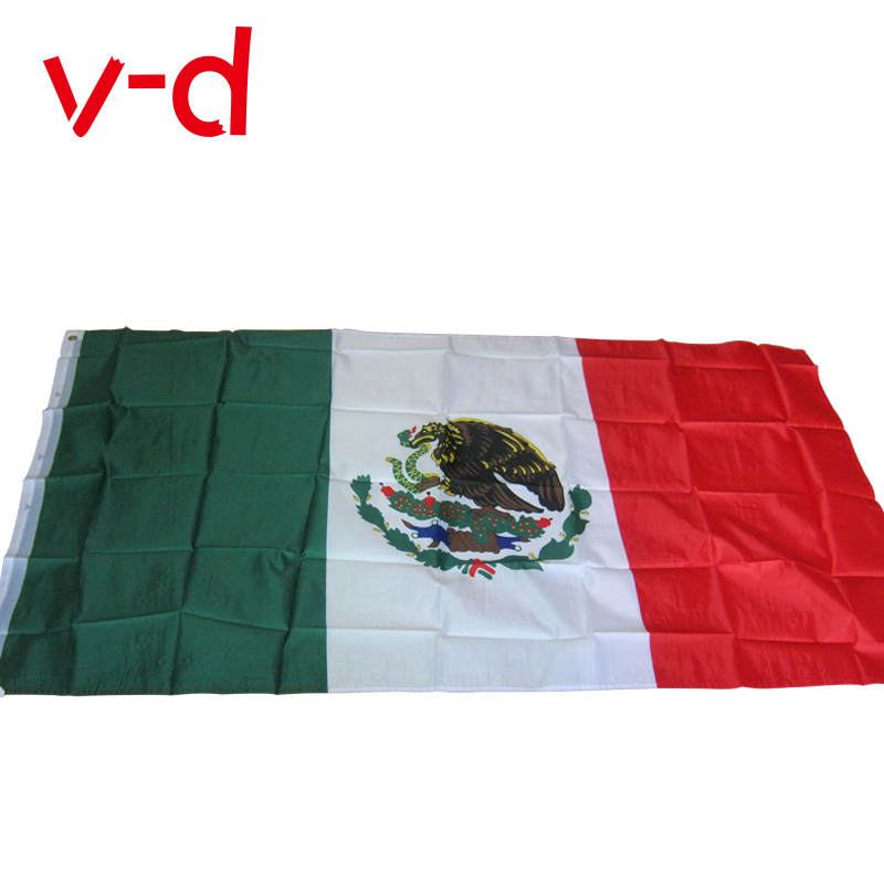 free shipping xvggdg 90 x 150 cm Mexico Flag Mexican Country Indoor Outdoor Banner Pennant Home decoration polyester banner
