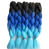 Esprit Beauty Synthetic 3Tone Ombre Jumbo Braiding Hair Extensions 24 10Pack High Temperature Fiber Crochet Box