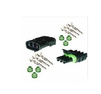 Free shipping CLEARANCE SALE For Delphi Weather Pack 3 Pin Weatherpack Kit 18-20 AWG 12v connector
