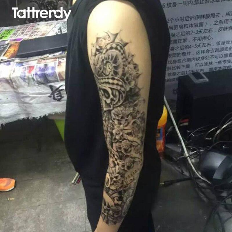 6 Piunidslote Tatuajes Temporales De Brazo Completo Pegatinas Para