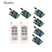 110V 220V 10A Relay 1CH Far Distance Wireless RF Remote Switch Transmitter 6 Receiver ON Off