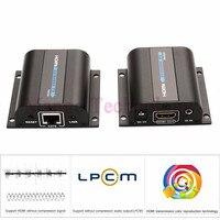 Lkv372a HD 1080 P HDMI Extender TX / RX 60 M avec IR sur CAT6 RJ45 Ethernet Support de cable HDMI 3D pour HDTV DVD lecteur
