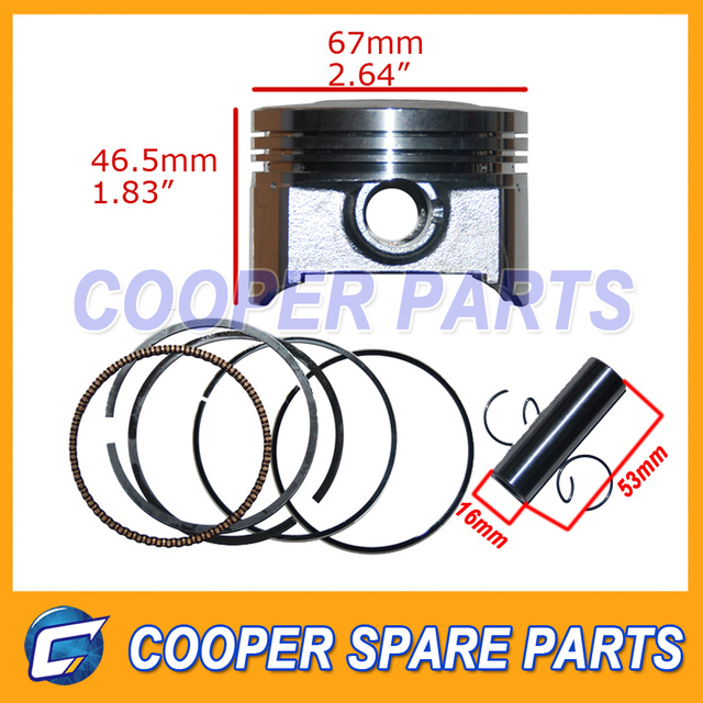 LiFan,ZongShen,Loncin,Bashan CG250 Piston Set for water cooled engine,67mm bore Piston Kit,include Piston,Ring,Pin,Clip