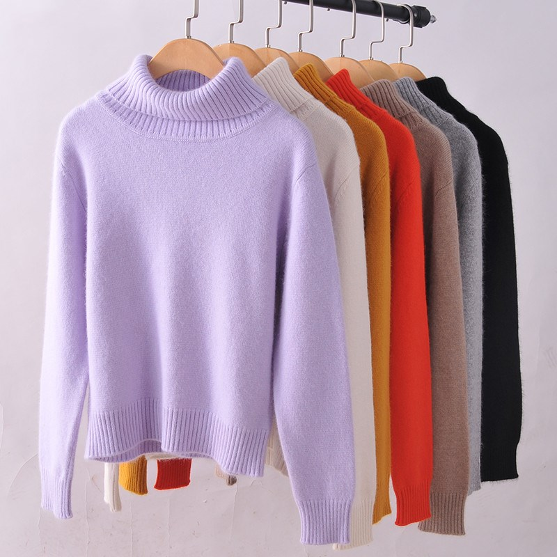 LHZSYY 2017 Autumn winter NEW Women s High lapel Cashmere Sweater fashion Knit Pullover thick Sweaters