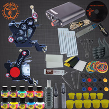 Tattoo Machine Kit Two Tattoo Guns Beginner Tattoo Supplies Professional Tattoo Kit Complete 10 Inks with Power Supply Clip Cord